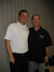 With Bret Kuhn after our clinic with the Truman State Drumline