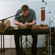 "Performing Cage's ""Child of Tree"" at the Blanton Museum of Art in Austin, TX"