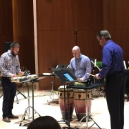 Performing with Jonathan Ovalle and Dave Gerhart at the 2015 Graceland Percussion Day